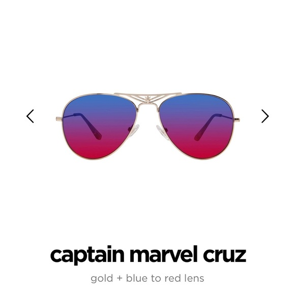9faee602fb NWT Captain Marvel x Diff Cruz Aviators